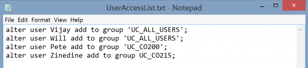 Add Users to Groups