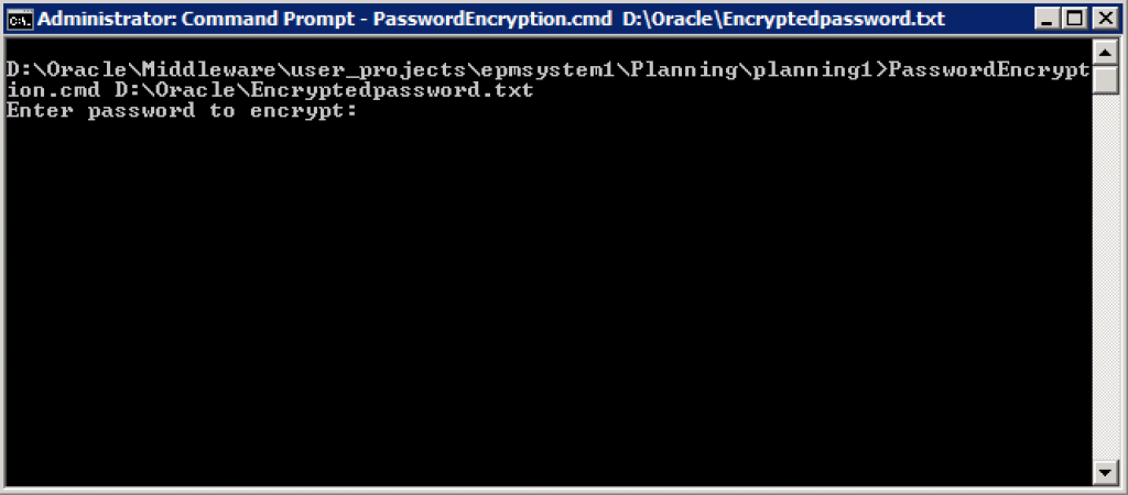 3PasswordEncryption.cmd enter command and then password