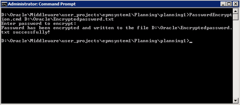 4PasswordEncryption.cmd password has been created to the desired location
